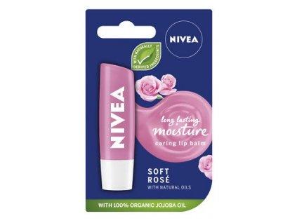 nivea soft rose balzam na pery 4 8 g