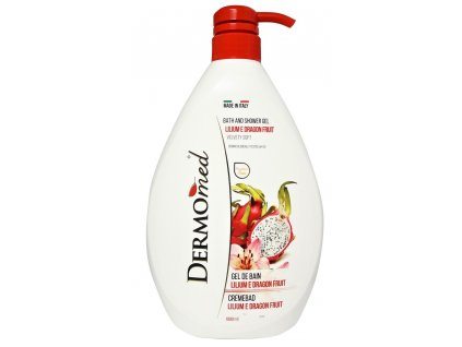 sprchovy gel a pena do kupela dermomed lilium e dragon fruit 1000 ml