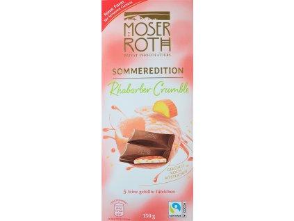 moser roth sommer edition rhabarber crumble cokolada 150 g