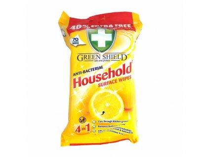 Čistiace obrúsky antibakteriálne GREEN SHIELD household