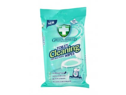 cistiace obrusky green shield toilet cleaning anti bacterial wipes 40 ks