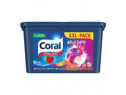 coral 3 v 1 optimal color caps kapsule na pranie 50 ks