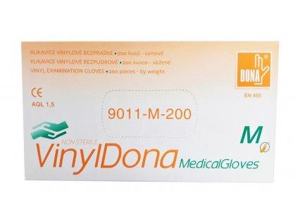 Jednorázové vinylové rukavice Dona 200 ks / balenie
