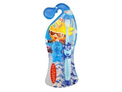 Detská zubná kefka Kids fun s plastovou figúrkou