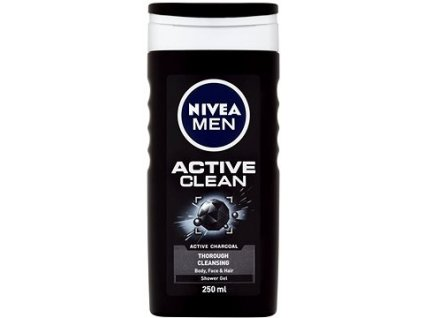 pansky sprchovy gel nivea active clean 250 ml