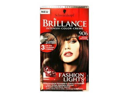 farba na vlasy schwarzkopf brillance brondzovy odrazom c 906