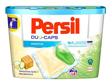 kapsule na pranie persil duo caps sensitive mandelmilch 18 ks