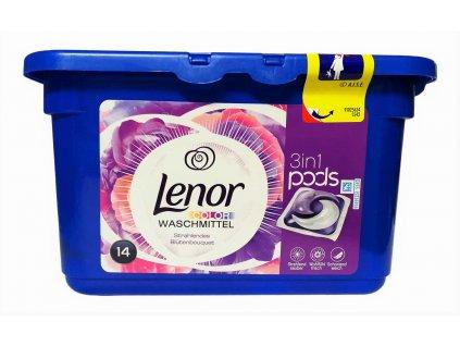 kapsule na pranie lenor 3 in 1 color blutenbouquet 14 ks
