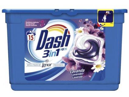 kapsule na pranie dash 3 n 1 levandula 15 ksl