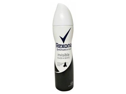 damsky antirespirant rexona invisible black white 150 ml