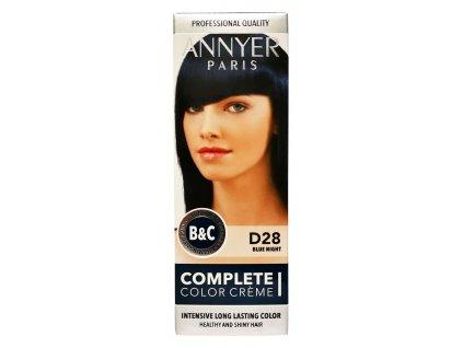 annyer profesionalna farba na vlasy d28 modra noc