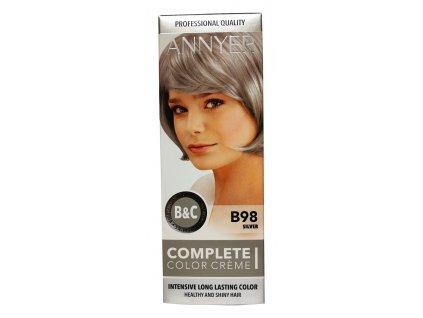 annyer profesionalna farba na vlasy b98 strieborna