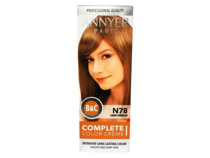 annyer profesionalna farba na vlasy n78 svetly tabak
