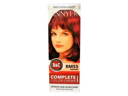 annyer profesionalna farba na vlasy rm55 mahagon