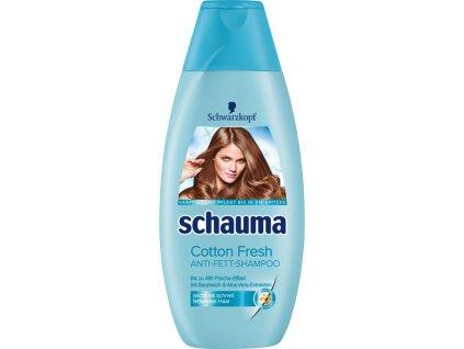 schauma sampon na vlasy cotton fresh anti fett shampoo 400 ml
