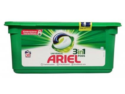 kapsule na pranie ariel 3 in 1 na biele a stalofarebne pradlo 30 ks