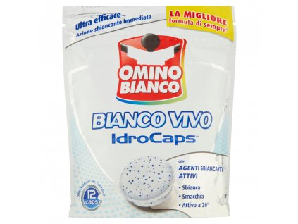 Omino Bianco Bianco Vivo odstraňovač škvŕn- 12 ks