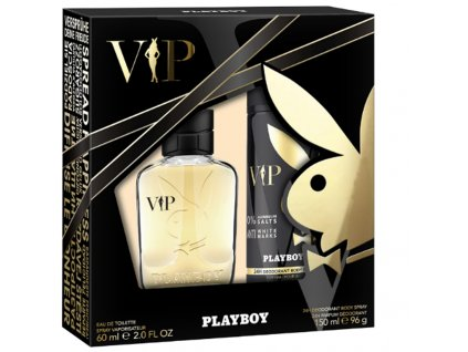 playboy vip pansky kozmeticky set eau de toilette 60 ml spray 150 ml