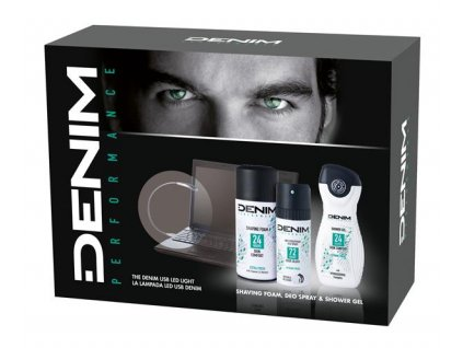 denim performance extra fresh dacekova kazeta usb svetlo pena na holenie 300 ml anti transpirant 150 ml sprchovy gel 150 ml