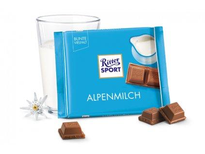 ritter sport mliecna cokolada alpenmilch 100 g