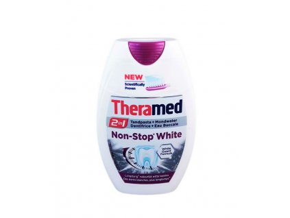 zubna pasta theramed 2 v 1 non stop white 75 ml