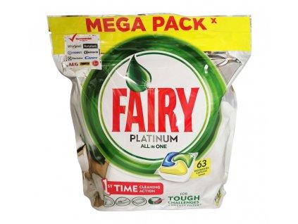 tabletky do umyvacky riadu fairy platinum all in one citrus 63 ks