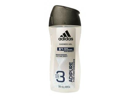 sprchovy gel adidas adipure na telo tvar a vlasy 250 ml