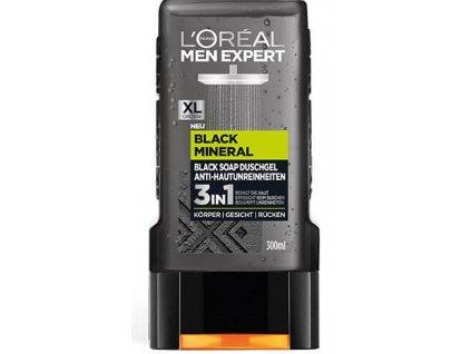 l oreal pansky sprchovy gel men expert black mineral 3v1 300 ml