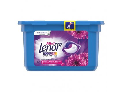 kapsule na pranie lenor 3 in 1 color ametyst blutenraum 12 ks
