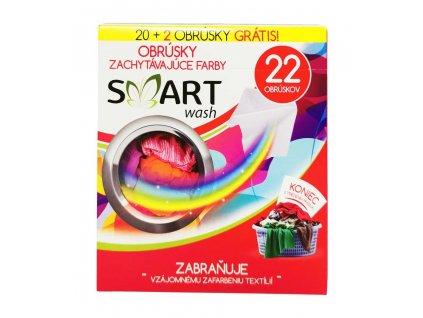 obrusky na zachytavanie farieb do pracky smart wash 22 ks