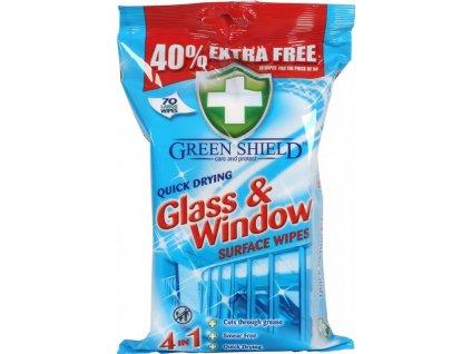 vlhcene obrusky green shield glass windowna okna a zrkadla 50 ks