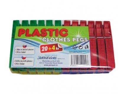 stipce na pradlo plastove janegal 20 4 ks