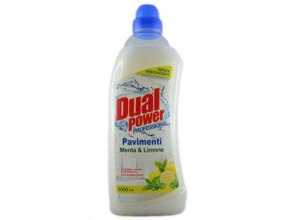 dual power pavimenti menta limone univerzalny cistiaci prostriedok s dezinfekcnym ucinkom 1000 ml