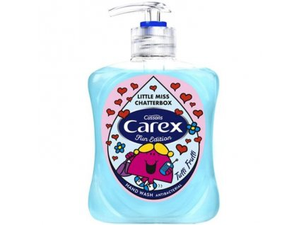 antibakterialne mydlo na ruky pre deti carex little miss mr 250 ml