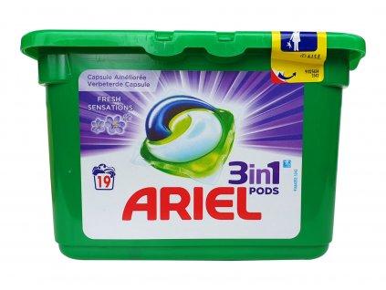 kapsule na pranie ariel 3 in 1 fresh sensations 19 ks