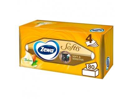 Zewa Softis Soft & Sensitive papierové vreckovky 4vrstvové 80ks