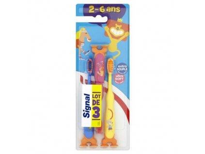 detsky zubni kartacek kids ultra soft 3 ks 1464273820200130121300