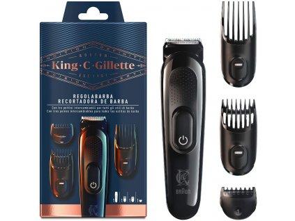 king c gillette kit regolabarba uomo