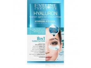 ev0729 eveline cosmetics hyaluron hydrogel eye pads 8in1 2pcs
