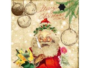 Papir Szalveta 3 retegu Santas Wish List 33x33cm piros natur S 20 i418607