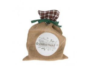 Merry Christmas feliratos zsak vaszon textil 30x43cm bezs i512719