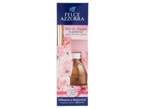 0020332 felce azzurra diffusore a bastoncini fiori di ciliegio peonia 600