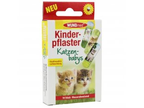 3270 WUNDmed Kinderpflaster Katzenbabys 10 Stuec