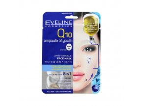 pol pl Eveline Q10 Ampoule of Youth Przeciwzmarszczkowa maska na tkaninie z koenzymem Q10 28293 1