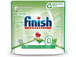 Finish Powerball Zero 0 % tablety do umývačky riadu 40 ks