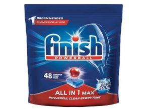 Finish Powerball All in One Max Baking Soda tablety do umývačky riadu 48ks
