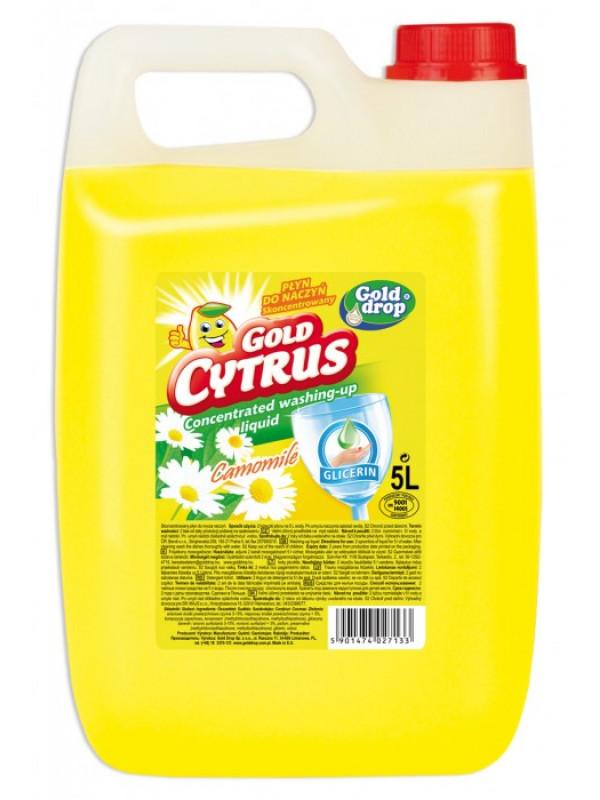 Gold Drop Gold Cytrus Strong Citrus & Harmanček saponát na riad 5l