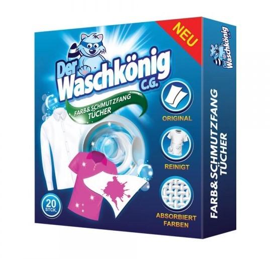 Waschkönig obrúsky proti zafarbeniu bielizne 20ks