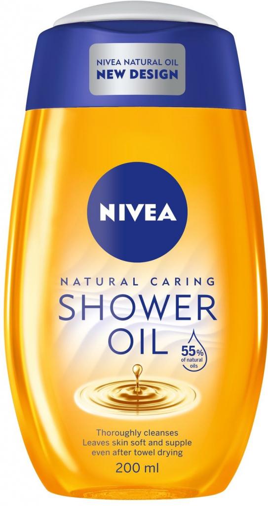 Nivea Natural Oil sprchový olej pre suchú pokožku 200ml