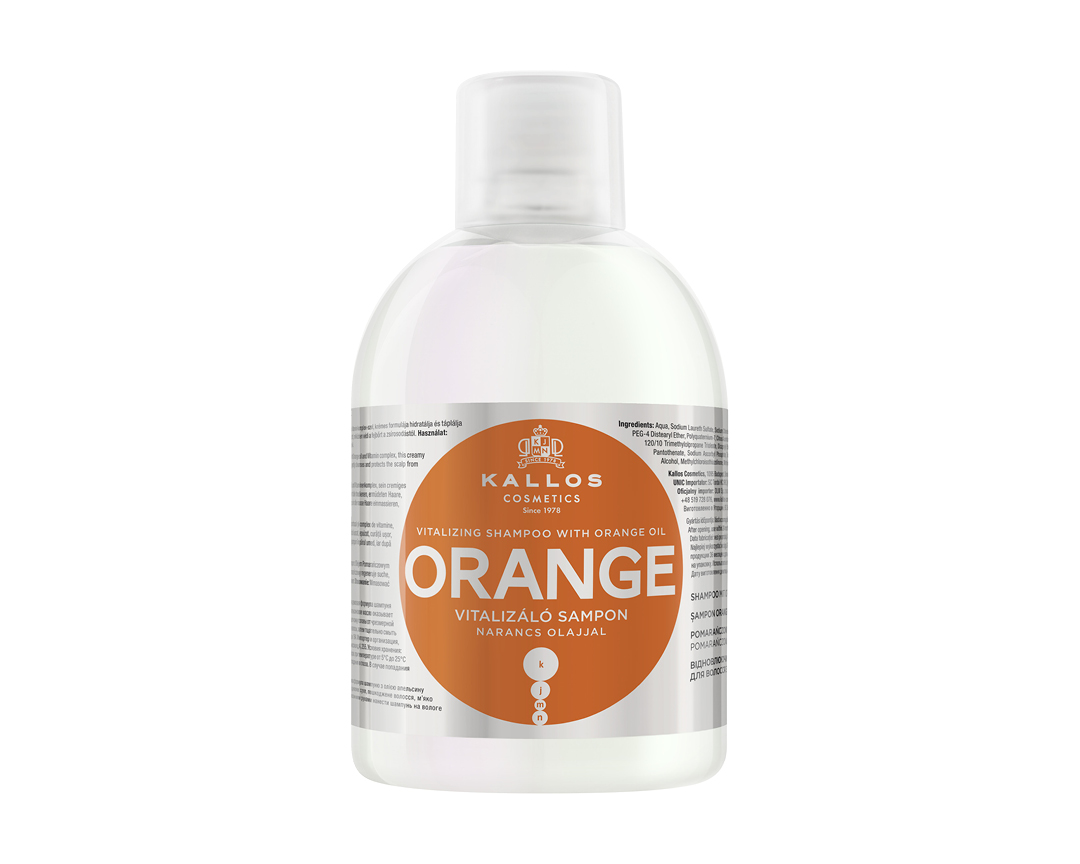 Kallos Orange šampón s pomarančovým olejom 1000ml